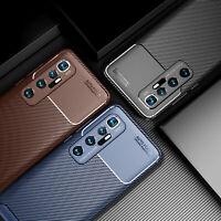 For Xiaomi Mi 10 Ultra Carbon Fiber Shockproof Soft Slim TPU Rubber Case Cover