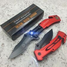 "8"" Tac Force FIRE FIGHTER Multi Functional TACTICAL Spring Assisted Pocket Knife"