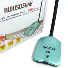 Used Alfa AWUS036NH 802.11n 2000mW WIRELESS USB Wi-Fi adapter High Power RP-SMA