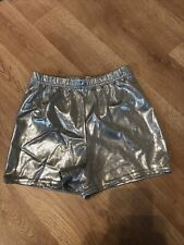 Varsity Spankies Silver Metallic Dance Cheer Skate Large