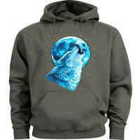 Lone wolf sweatshirt lone wolf howling hoodie Men's size wolves sweat shirt