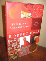 Time and Materials Robert Hass Poems 1st Edition First Printing Pulitzer Poetry
