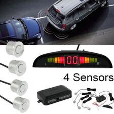 Pantalla LED Blanco 4 pcs Sensores  de Aparcamiento CON Sonido Alarma radar kit