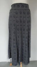 New Marisota Smart Jersey Maxi Skirt Size 12 Dark Grey Pattern Elasticated Waist