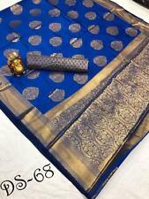 Designer Saree Pakistani Bollywood Banarasi Sari Kanchipuram Silk Indian Wear PV