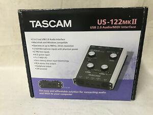 TASCAM US-122 MK2 USB AUDIO MIDI INTERFACE RECORDING HOME STUDIO - Black