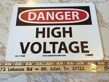 Danger High Voltage Vinyl Magnet Sign Brand New. Have Many!