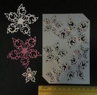 John Next Door/JND132/Cutting/DIE/Swirl Poinsettia/6 designs on 1 plate