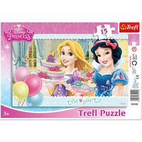 TREFL puzzle 15 pièces DISNEY Princesses Raiponce Blanche neige  - 3+ NEUF