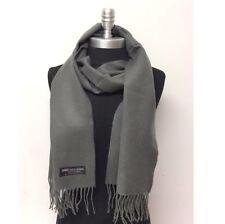 New 100% Cashmere Scarf SCOTLAND Solid Dark Gray Wool Wrap Soft Warm Unisex