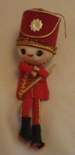 "Drummer Boy Handmade Christmas Ornament Decoration Holiday 5"" Tall"