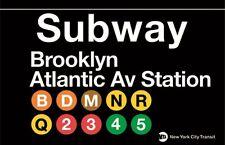 Brooklyn Atlantic Ave Subway Station Sign Metal