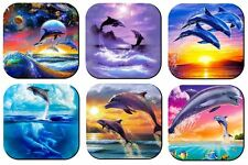 Dolphin Drink Coasters x 6 Non fading