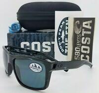 NEW Costa Slack Tide Ocearch Sunglasses Shiny Tiger Shark Grey 580P AUTHENTIC