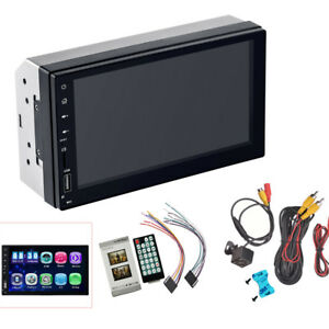 """7"""" Bluetooth Car Stereo Radio 2DIN HD MP5 FM Player Touch Screen USB Android 8.0"""