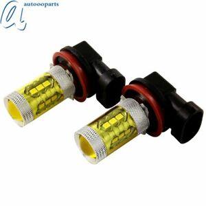 Pair H8 H9 H11 LED Fog Light Bulbs 3000K Yellow Color DRL Driving Lamp Kit CT