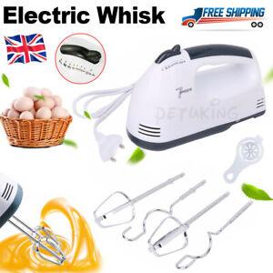Electric Handheld Whisk 7 Speed Hand Mixer DIY Egg Beater Cream Cake Blender UK