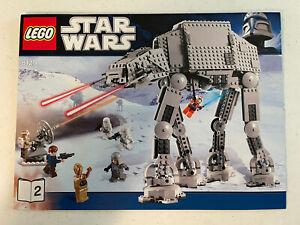 Lego STAR WARS AT-AT WALKER (8129) w/ instructions.  No Minifigs