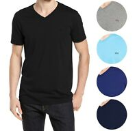 Lacoste Men's Premium Pima Cotton V-Neck Sport Shirt T-Shirt Tonal Croc