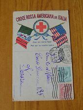 CARTOLINA CROCE ROSSA AMERICANA IN ITALIA VIAGGIATA 1919 SUBALPINA YY