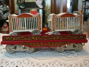 McCoy Standard gauge train TPC circus flat with bear and tiger cages 256FMC