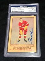 GORDIE HOWE 1951 93 PARKHURST ROOKIE REPRINT SIGNED CARD RED WINGS PSA/DNA AUTO