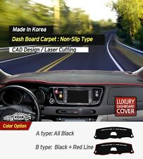 Dash Carpet Dashboard Cover Mat LHD Black Color for Chevy Holden Spark 2016~2017