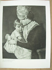 VINTAGE 1912 PRINT - MRS CARWARDINE AND CHILD By GEORGE ROMNEY