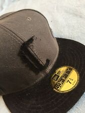CROOKS AND CASTLES X NEW ERA 59FIFTY BLK/GRY FITTED HAT SZ 7-3/4 !!! NEW !!!