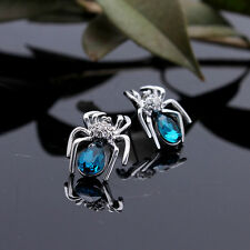 Charm Crystal Zircon Spider Stud Earrings Chic Rhinestone Insect Earrings RS