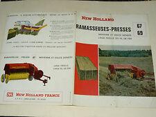 Prospectus Presse NEW HOLLAND 67  69  brochure tractor tracteur traktor prospekt