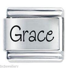 GRACE Name - Daisy Charm by JSC Fits Classic Size Italian Charms Bracelet