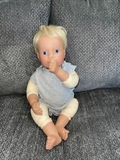 1997 Lee Middleton Doll By Reva Blonde Hair Blue Eyes BoyThumb Sucker #111997