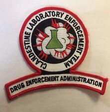 """DEA Drug Enforcement Administration Clandestine Laboratory Team Cloth 3"""" Patch"""