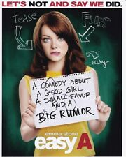 EMMA STONE Signed Autographed EASY A OLIVE Photo