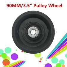 "Universal 90mm 3.5"" Nylon Bearing Pulley Wheel Cable Gym Fitness Equipment Parts"