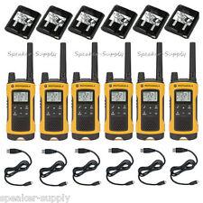 Motorola Talkabout T400 Walkie Talkie 6 Pack Set 35 Mile Two Way Radio NOAA LED
