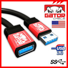 USB 3.0 Super High Speed Male A to Female A Extension Cable Cord Metal Case 15FT