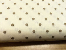 Shabby Chic Brown Spots on Cream 100% Cotton Fabric. Price per 1/2 meter