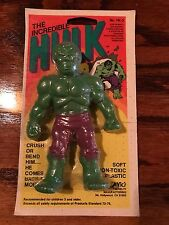 "VINTAGE 1979 VIC'S ""THE INCREDIBLE HULK"" RUBBER JIGGLER - MINTY MOC"