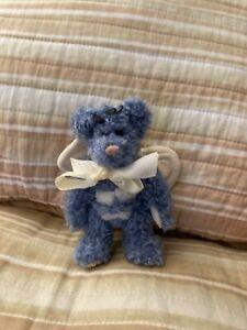 "Boyds Bears Plush Blue Bumblebee Bear 6"" Christmas Ornament."