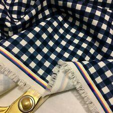 NEW Soft Poly-Viscose Gingham Check Print Dress/Craft Fabric*FREE P&P