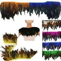 Multicolor Chicken Rooster Tail Feather for Dress Skirt DIY Craft Feather Trims