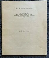 1963 CAN WE FLY TO THE STARS? by Graham Stone, Original, complete, free ship w/w