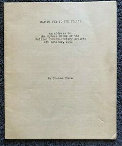 1963 CAN WE FLY TO THE STARS? by Graham Stone, Original, Space Exploration
