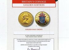 London Mint GOLDEN EDITION 1960 Golden HALFCROWN plus C.O.A.