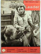 GIRL SCOUT LEADER MAGAZINE March 1964 UNWANTED TROOP/TEEN-AGE NUTRITION