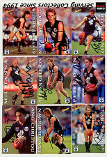 1995 Select AFL Series 1 Personal Autographed Cards Team Set Carlton Blues (15)