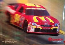 Bill Elliott Racing 1998 Brembo Brake Systems Car Poster Very Rare! Own It!!