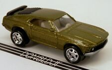 """Johnny Lightning 1970 Ford Mustang """"Big Boss"""" Olive Green Metallic 1/64 Scale"""